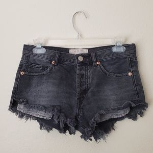 We the Free Gray High Waisted Cut Off Shorts 25
